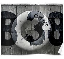 Black and White Collage of Cape Cod Buoy Poster