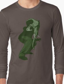 Just Some Green Guy With An Elephant Head Long Sleeve T-Shirt