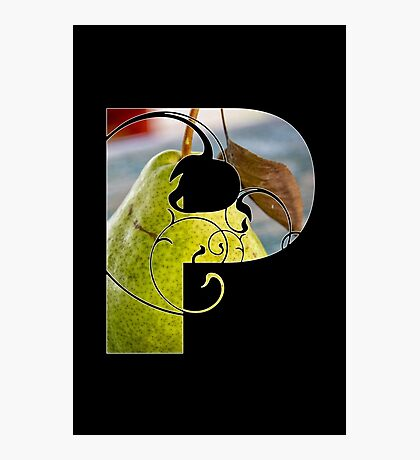 P is for pear Photographic Print