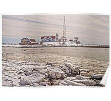 Eastern Point Light on a Winter's day Poster