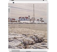 Eastern Point Light on a Winter's day iPad Case/Skin