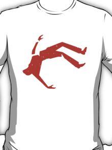 Retro Design Of Man Falling T-Shirt