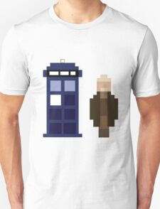 Pixel War Doctor and TARDIS T-Shirt