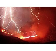Wrath - Fire and Lightning Photographic Print