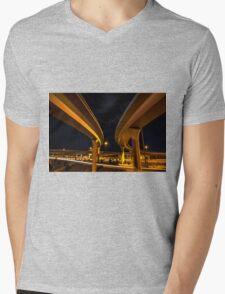 Two Lanes Mens V-Neck T-Shirt