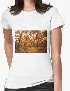 Golden Fall Womens Fitted T-Shirt