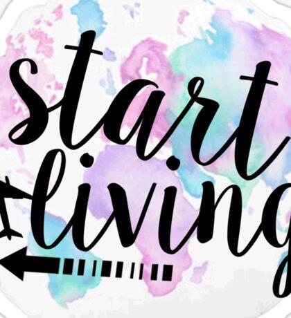 Start Living Sticker