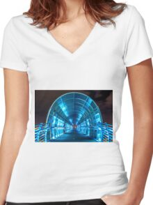 Electric Bridge Women's Fitted V-Neck T-Shirt