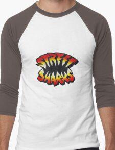 Street Sharks Large Men's Baseball ¾ T-Shirt