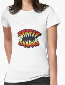 Street Sharks Large Womens Fitted T-Shirt