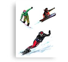 Air dance - Snowboard Canvas Print