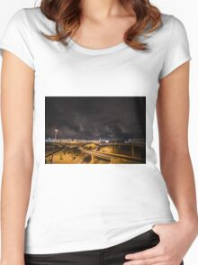Highway Light Women's Fitted Scoop T-Shirt