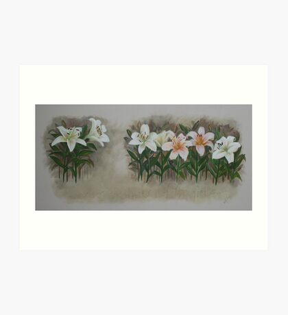Consider the Lilies of the Field Art Print