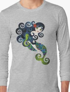 Aquamarine, the Teenage Mermaid Long Sleeve T-Shirt
