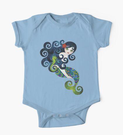 Aquamarine, the Teenage Mermaid One Piece - Short Sleeve