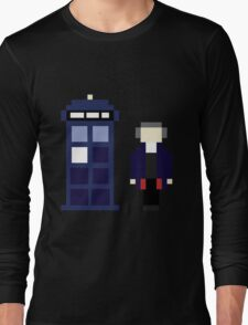 Pixel 12th Doctor and TARDIS Long Sleeve T-Shirt