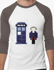 Pixel 12th Doctor and TARDIS Men's Baseball ¾ T-Shirt