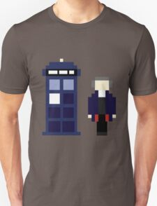 Pixel 12th Doctor and TARDIS Unisex T-Shirt