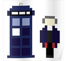 Pixel 12th Doctor and TARDIS Poster