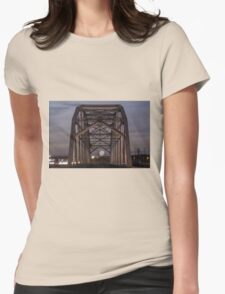 Moon Bridge Womens Fitted T-Shirt
