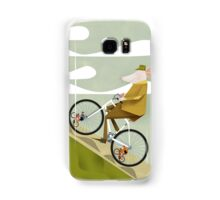Hamster Cyclist Road Bike Poster Samsung Galaxy Case/Skin