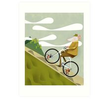 Hamster Cyclist Road Bike Poster Art Print