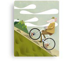 Hamster Cyclist Road Bike Poster Metal Print