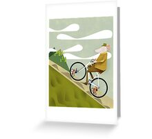 Hamster Cyclist Road Bike Poster Greeting Card