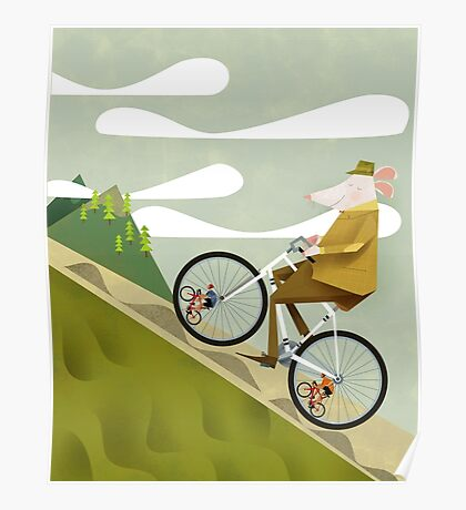 Hamster Cyclist Road Bike Poster Poster