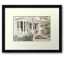 Small Town Americana Framed Print