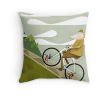 Hamster Cyclist Road Bike Poster Throw Pillow