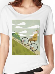 Hamster Cyclist Road Bike Poster Women's Relaxed Fit T-Shirt