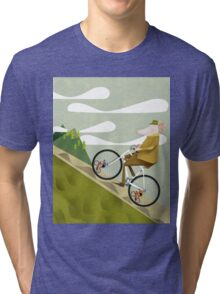 Hamster Cyclist Road Bike Poster Tri-blend T-Shirt