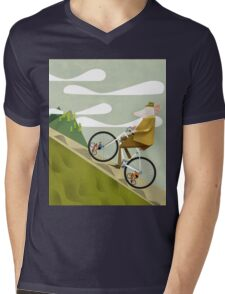Hamster Cyclist Road Bike Poster Mens V-Neck T-Shirt
