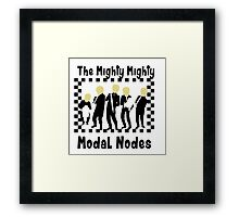 The Mighty Mighty Modal Nodes Framed Print