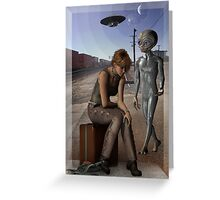 we are not alone Greeting Card