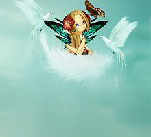 Any Occasion Greeting Card With Cute Fairy by Moonlake