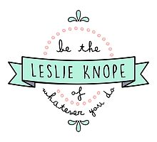 Be the Leslie Knope of Whatever You Do - Light Coral & Teal by racheladditon