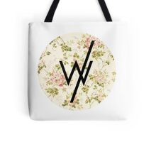 Sleeping With Sirens(flower background) Tote Bag