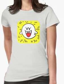 Boo - Snapchat logo Womens Fitted T-Shirt