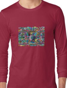 Peacock Abstract Long Sleeve T-Shirt