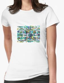 Peacock Abstract Womens T-Shirt