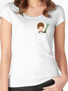 Pocket Who! (Eleventh Doctor) Women's Fitted Scoop T-Shirt