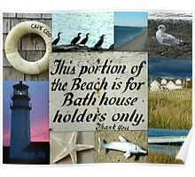 Beach Themed Collage Poster