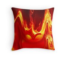 Heart is burning Throw Pillow