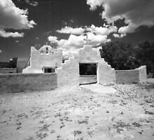 Church on Picuris Pueblo by Gordon Lukesh