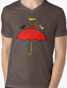 RAINING CATS AND DOGS  T SHIRT Mens V-Neck T-Shirt