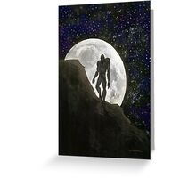 Beast at Full Moon Greeting Card