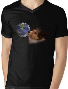 Earth Day Sheltie Mens V-Neck T-Shirt
