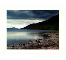 Overcast At Loch End, Scotland. Art Print